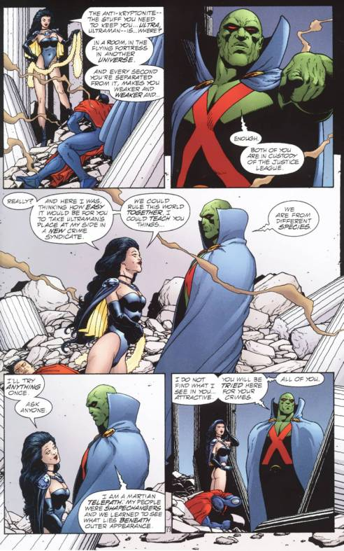 Martian Manhunter is propositioned.