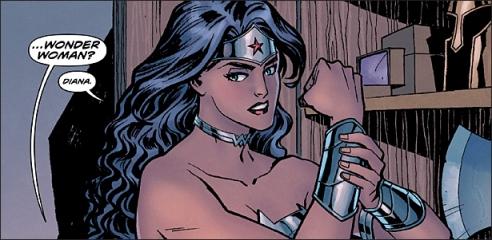A goddess gearing up for action. Art by Cliff Chiang and Matthew Wilson.